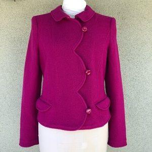 Armani Collezioni fuchsia boiled wool jacket